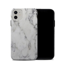 DecalGirl A11HC-WHT-MARBLE Apple iPhone 11 Hybrid Case - White Marble