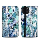 DecalGirl A11PFC-BLUEINK Apple iPhone 11 Pro Folio Case - Blue Ink Floral