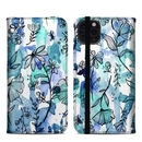DecalGirl A11PMFC-BLUEINK Apple iPhone 11 Pro Max Folio Case - Blue Ink Floral