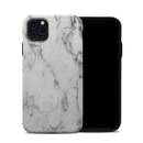 DecalGirl A11PMHC-WHT-MARBLE Apple iPhone 11 Pro Max Hybrid Case - White Marble