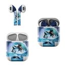 DecalGirl AAP-ORCAWAVE Apple AirPods Skin - Orca Wave (Skin Only)