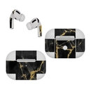 DecalGirl AAPP-BLACKGOLD Apple AirPods Pro Skin - Black Gold Marble (Skin Only)