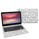DecalGirl AC302-MOODYCATS Asus Chromebook C302 Skin - Moody Cats (Skin Only)