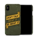 DecalGirl AIPXCC-DONTALK Apple iPhone X Clip Case - Don't Talk