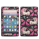 DecalGirl AK79-UNIROSECHAR Amazon Kindle Fire 7in 9th Gen Skin - Unicorns and Roses (Skin Only)