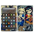 DecalGirl AKHD19-ALCSNW Amazon Kindle Fire HD10 2019 Skin - Alice & Snow White (Skin Only)