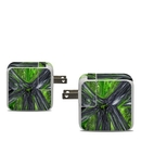 DecalGirl APA30-ABST-GRN Apple 30W USB-C Power Adapter Skin - Emerald Abstract (Skin Only)