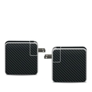 DecalGirl APA61-CARBON Apple 61W USB-C Power Adapter Skin - Carbon (Skin Only)