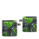 DecalGirl APA87-ABST-GRN Apple 87W USB-C Power Adapter Skin - Emerald Abstract (Skin Only)