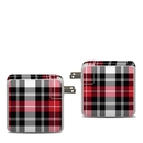 DecalGirl APA87-PLAID-RED Apple 87W USB-C Power Adapter Skin - Red Plaid (Skin Only)