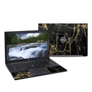 DecalGirl DL7490-BLACKGOLD Dell Latitude (7490) Skin - Black Gold Marble (Skin Only)
