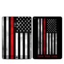 DecalGirl IPD7G-THINRLINE Apple iPad 7th Gen Skin - Thin Red Line (Skin Only)