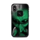DecalGirl LFXSM-ABD-GRN Lifeproof iPhone XS Max Fre Case Skin - Abduction (Skin Only)