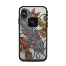 DecalGirl LFXSM-FEATHERFLOWER Lifeproof iPhone XS Max Fre Case Skin - Feather Flower (Skin Only)