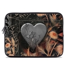 DecalGirl LSLV-BLKLACE Laptop Sleeve - Black Lace Flower