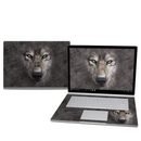 DecalGirl MISB25-GRY-WOLF Microsoft Surface Book 2 15in (i7) Skin - Grey Wolf (Skin Only)