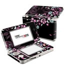 DecalGirl N3DS15-DKFLOWERS Nintendo 3DS 2015 Skin - Dark Flowers (Skin Only)