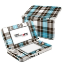 DecalGirl N3DS15-PLAID-TUR Nintendo 3DS 2015 Skin - Turquoise Plaid (Skin Only)