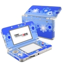 DecalGirl N3DS15-RETROFLOWER-BLU Nintendo 3DS 2015 Skin - Retro Blue Flowers (Skin Only)