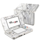 DecalGirl N3DS15-WHT-MARBLE Nintendo 3DS 2015 Skin - White Marble (Skin Only)