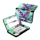 DecalGirl N3DX-BFLYGLASS Nintendo 3DS XL Skin - Butterfly Glass (Skin Only)