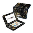 DecalGirl N3DX-BLACKGOLD Nintendo 3DS XL Skin - Black Gold Marble (Skin Only)