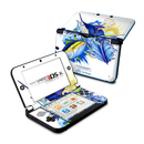 DecalGirl N3DX-BLUEWHITE Nintendo 3DS XL Skin - Blue White and Yellow (Skin Only)