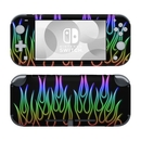 DecalGirl NSL-NFLAMES-RBO Nintendo Switch Lite Skin - Rainbow Neon Flames (Skin Only)