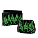 DecalGirl NSW-NFLAMES-GRN Nintendo Switch Skin - Green Neon Flames (Skin Only)