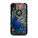 DecalGirl OCAIXR-CORALPC OtterBox Commuter iPhone XR Case Skin - Coral Peacock (Skin Only)