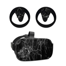 DecalGirl OCQU-BLACK-MARBLE Oculus Quest Skin - Black Marble (Skin Only)