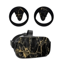 DecalGirl OCQU-BLACKGOLD Oculus Quest Skin - Black Gold Marble (Skin Only)
