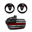 DecalGirl OCQU-THINRLINE Oculus Quest Skin - Thin Red Line (Skin Only)