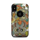 DecalGirl OCXS-4OWLS OtterBox Commuter iPhone X-XS Case Skin - 4 owls (Skin Only)