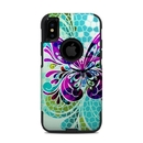 DecalGirl OCXS-BFLYGLASS OtterBox Commuter iPhone X-XS Case Skin - Butterfly Glass (Skin Only)