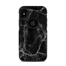 DecalGirl OCXS-BLACK-MARBLE OtterBox Commuter iPhone X-XS Case Skin - Black Marble (Skin Only)