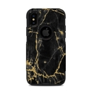 DecalGirl OCXS-BLACKGOLD OtterBox Commuter iPhone X-XS Case Skin - Black Gold Marble (Skin Only)