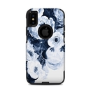DecalGirl OCXS-BLUEBLOOMS OtterBox Commuter iPhone X-XS Case Skin - Blue Blooms (Skin Only)