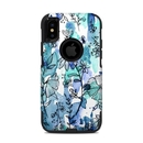 DecalGirl OCXS-BLUEINK OtterBox Commuter iPhone X-XS Case Skin - Blue Ink Floral (Skin Only)