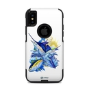 DecalGirl OCXS-BLUEWHITE OtterBox Commuter iPhone X-XS Case Skin - Blue White and Yellow (Skin Only)