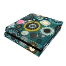 DecalGirl PS4-BLOOMTL Sony PS4 Skin - Blooms Teal (Skin Only)