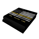 DecalGirl PS4-THINYLINE Sony PS4 Skin - Thin Yellow Line (Skin Only)