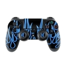 DecalGirl PS4C-NFLAMES-BLU Sony PS4 Controller Skin - Blue Neon Flames (Skin Only)