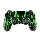 DecalGirl PS4C-NFLAMES-GRN Sony PS4 Controller Skin - Green Neon Flames (Skin Only)