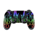 DecalGirl PS4C-NFLAMES-RBO Sony PS4 Controller Skin - Rainbow Neon Flames (Skin Only)