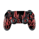 DecalGirl PS4C-NFLAMES-RED Sony PS4 Controller Skin - Red Neon Flames (Skin Only)