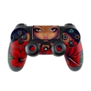 DecalGirl PS4C-REDHIBFAIRY Sony PS4 Controller Skin - Red Hibiscus Fairy (Skin Only)