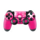 DecalGirl Sony PS4 Controller Skin - Retro Pink Flowers (Skin Only)