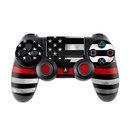 DecalGirl PS4C-THINRLINE Sony PS4 Controller Skin - Thin Red Line (Skin Only)