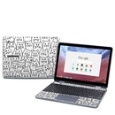 DecalGirl SCP8-MOODYCATS Samsung Chromebook Plus (2018) Skin - Moody Cats (Skin Only)